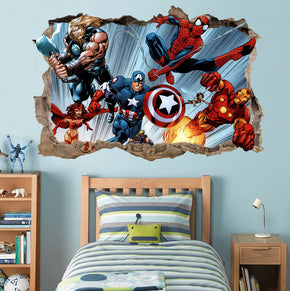 The Avengers 3D Smashed Broken Decal Wall Sticker 017