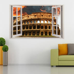 Colosseum Rome 3D Window Wall Sticker Decal H229