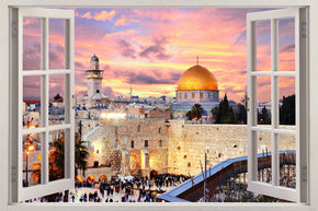 JERUSALEM The Holy City 3D Window Wall Sticker Decal H233