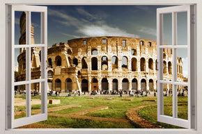 Colosseum Rome 3D Window Wall Sticker Decal H241
