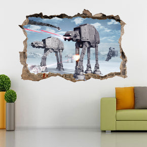 Star Wars Battle of Hoth 3D Smashed Broken Decal Wall Sticker H280