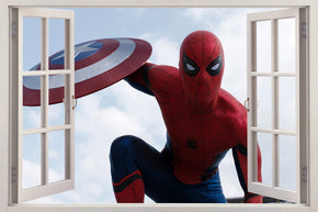 Super Heroes 3D Window Wall Sticker Decal H477