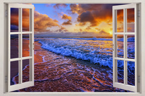 Beach Sunset Exotic 3D Window Wall Sticker Decal H610