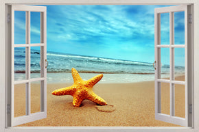 Exotic Beach 3D Window Wall Sticker Decal H617
