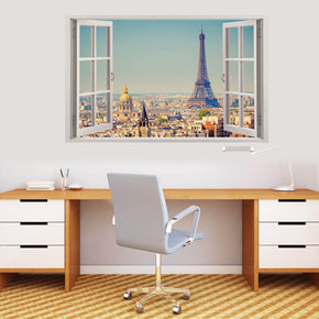 Eiffel Tower Paris 3D Window Wall Sticker Decal