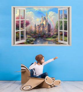 Fantasy Princess Castle 3D Window Wall Sticker Decal