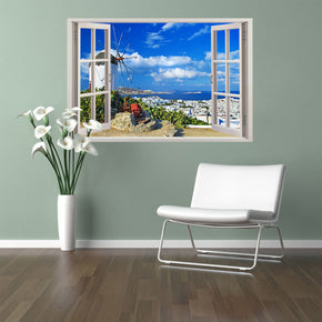 Greece Exotic Beach 3D Window Wall Sticker Decal