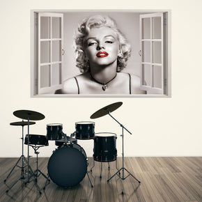 Movie Superstar Red Lips 3D Window Wall Sticker Decal
