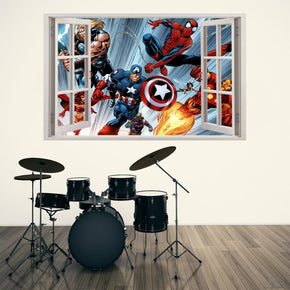 Super Hero Movie Characters 3D Window Wall Sticker Decal 027