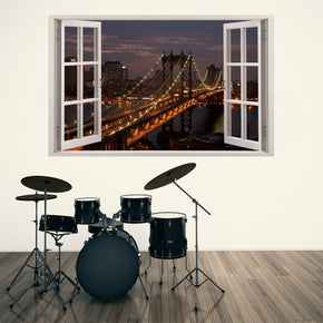 New York City Skyline 3D Window Wall Sticker Decal H86