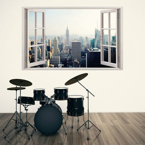 New York Manhattan Skyline 3D Window Wall Sticker Decal H89