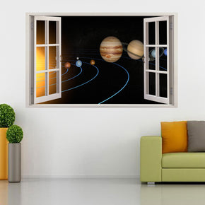 Solar System Planet Space 3D Window Wall Sticker Decal H96
