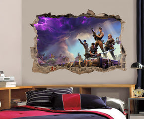 Fortnite 3D Smashed Broken Decal Wall Sticker J1303