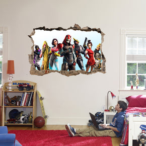 Fortnite 3D Smashed Broken Decal Wall Sticker J1459
