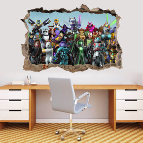 ROBLOX 3D Smashed Broken Decal Wall Sticker J1485