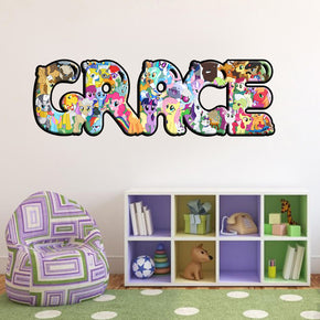 My Little Pony Personalized Custom Name Wall Sticker Decal 011