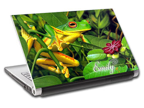 Frog Personalized LAPTOP Skin Vinyl Decal L08