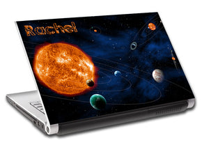 Space Planets Personalized LAPTOP Skin Vinyl Decal L109