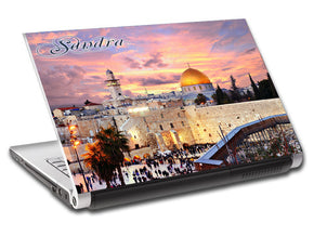 JERUSALEM Personalized LAPTOP Skin Vinyl Decal L130