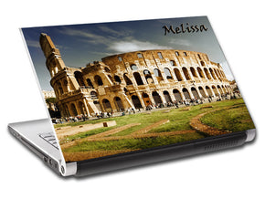 Rome Colosseum Personalized LAPTOP Skin Vinyl Decal L139
