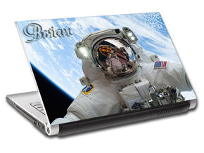 Astronaut Space Personalized LAPTOP Skin Vinyl Decal L181