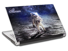 Astronaut Space Moon Personalized LAPTOP Skin Vinyl Decal L182
