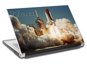 Space Shuttle Personalized LAPTOP Skin Vinyl Decal L201