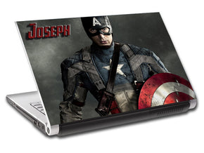 Captain America Super Heroes Personalized LAPTOP Skin Vinyl Decal L206