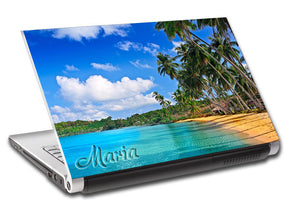 Tropical Exotic Beach Personalized LAPTOP Skin Vinyl Decal L241