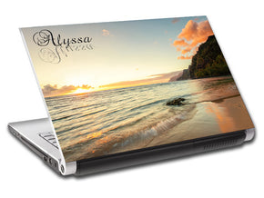 Exotic Beach Sunset Ordinateur portable personnalisé Skin Vinyl Decal L242
