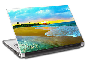Exotic Tropical Beach Personalized LAPTOP Skin Vinyl Decal L246