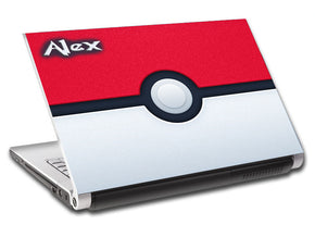 Pokemon Ball Personalized LAPTOP Skin Vinyl Decal L327