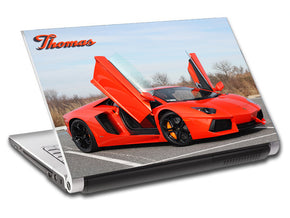 Lamborghini Aventador Race Car Personalized LAPTOP Skin Vinyl Decal L398