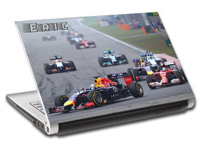 F1 Race Car Personalized LAPTOP Skin Vinyl Decal L420