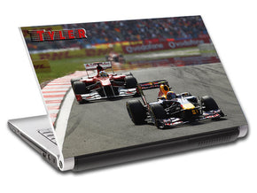 F1 Race Car Personalized LAPTOP Skin Vinyl Decal L421