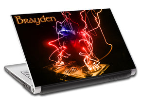 Abstract DJ Personalized LAPTOP Skin Vinyl Decal L49