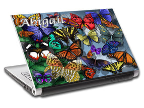 Butterflies Personalized LAPTOP Skin Vinyl Decal L501