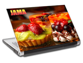 Dessert Cake Personalized LAPTOP Skin Vinyl Decal L517