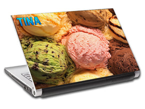 Ice Cream Personalized LAPTOP Skin Vinyl Decal L519