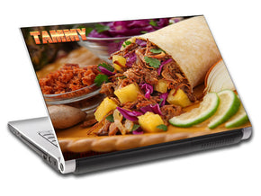 Taco Burrito Mexican Food Personalized LAPTOP Skin Vinyl Decal L522