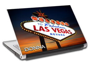 Las Vegas Landscape Personalized LAPTOP Skin Vinyl Decal L531