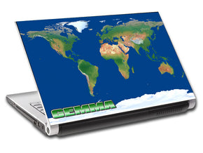 World Map Personalized LAPTOP Skin Vinyl Decal L537