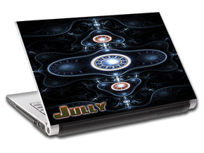 Abstract DJ Personalized LAPTOP Skin Vinyl Decal L546