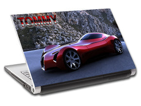 Bugatti Sports Luxury Car Personalized LAPTOP Skin Vinyl Decal L599