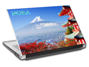 Mount Fuji Japan Personalized LAPTOP Skin Vinyl Decal L604
