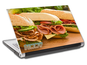 Sub Sandwich Personalized LAPTOP Skin Vinyl Decal L635