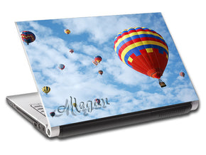 Hot Air Balloon Ride Personalized LAPTOP Skin Vinyl Decal L646