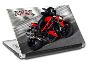 Motorcycle Ducati Bike Personalized LAPTOP Skin Vinyl Decal L653
