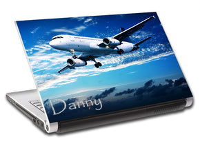 Airplane Aircraft Personalized LAPTOP Skin Vinyl Decal L671