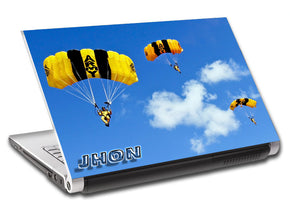 Skydive Parachutes Personalized LAPTOP Skin Vinyl Decal L692